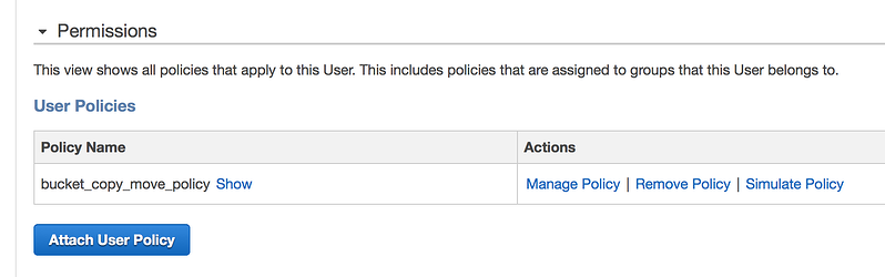 AWS User Policy