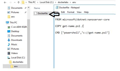 Docker file contents and folder structure .jpg
